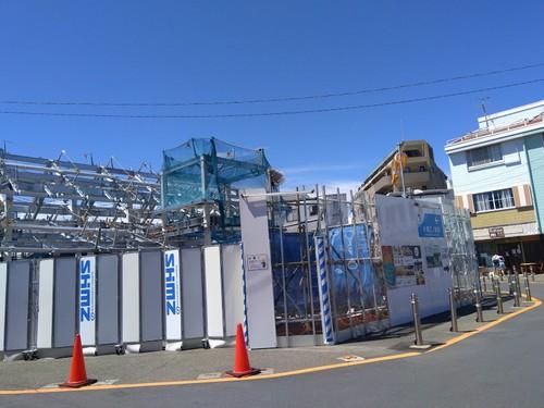 小田急江ノ島駅の工事